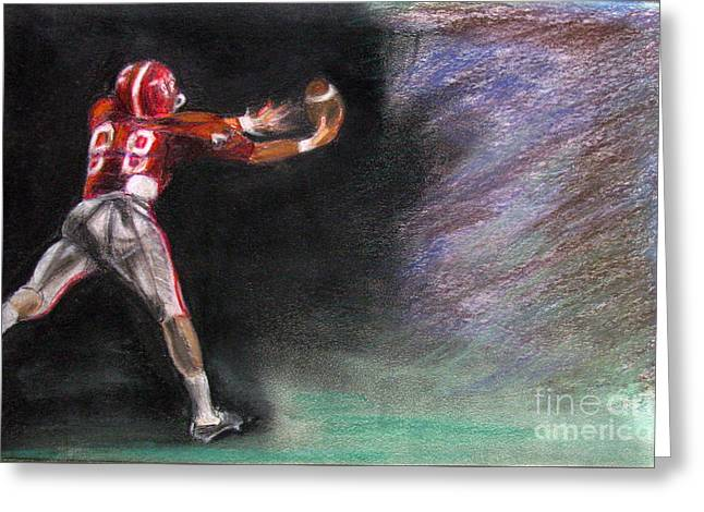Michael Pastels Greeting Cards - Catch Greeting Card by Michael Anthony Edwards