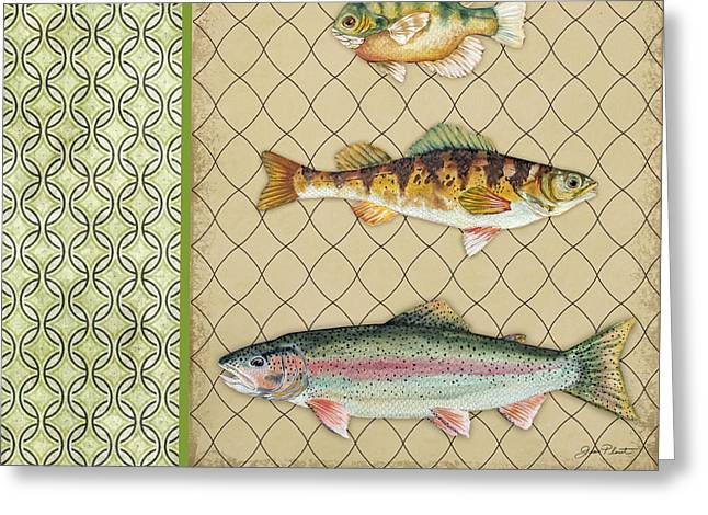 Trout Fishing Greeting Cards - Catch of the Day-B Greeting Card by Jean Plout