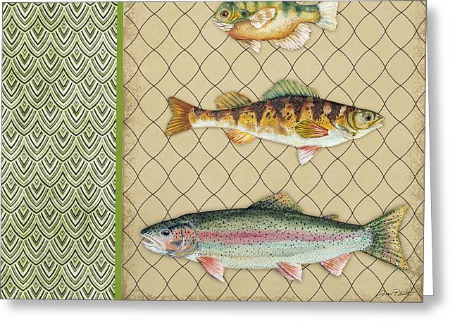 Trout Fishing Greeting Cards - Catch of the Day-D Greeting Card by Jean Plout