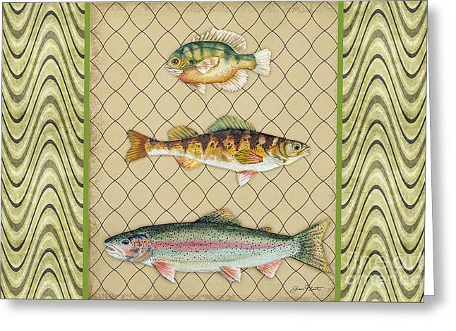 Trout Fishing Greeting Cards - Catch of the Day-E Greeting Card by Jean Plout