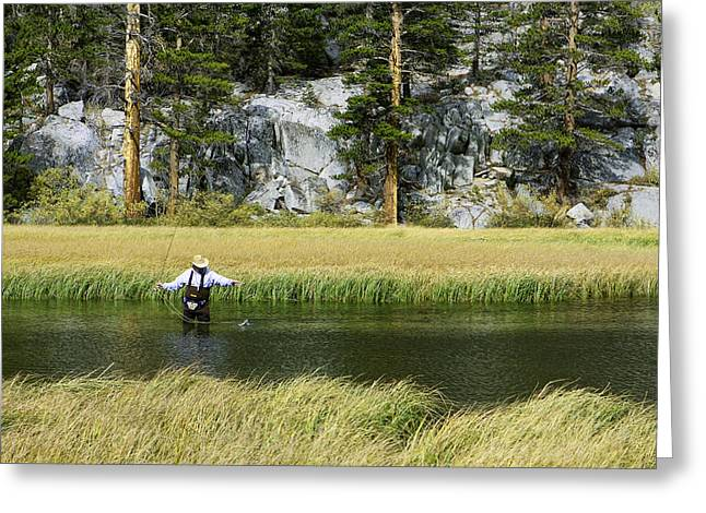 Cabelas Greeting Cards - Catch of the Day - Eastern Sierra California Greeting Card by Ram Vasudev