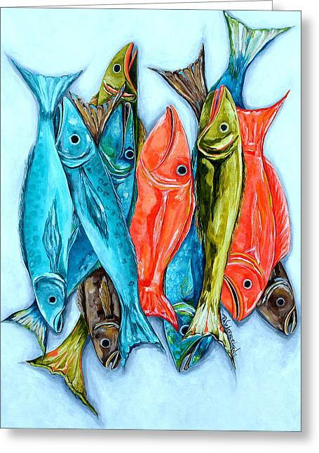 Lake House Greeting Cards - Catch Of The Day Greeting Card by Patti Schermerhorn