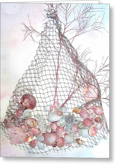 Bathroom Prints Mixed Media Greeting Cards - Catch Of The Day Greeting Card by S AshleyAnn Goforth