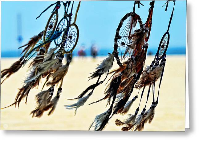 California Beach Art Digital Art Greeting Cards - Catch the Dream Greeting Card by Camille Lopez