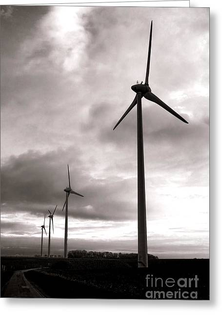 Windmills Greeting Cards - Catch the Wind Greeting Card by Olivier Le Queinec