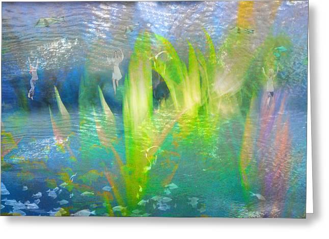Algae Greeting Cards - Catchers fish. Greeting Card by   larisa Fedotova