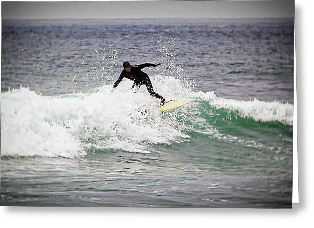 Surfer Art Greeting Cards - Catching a Wave Greeting Card by Jacque The Muse Photography