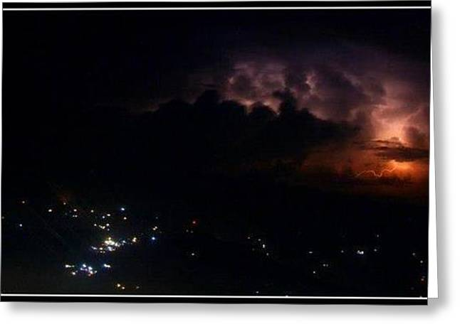 Light And Dark Greeting Cards - Catching Lightning Greeting Card by Will Prendiville