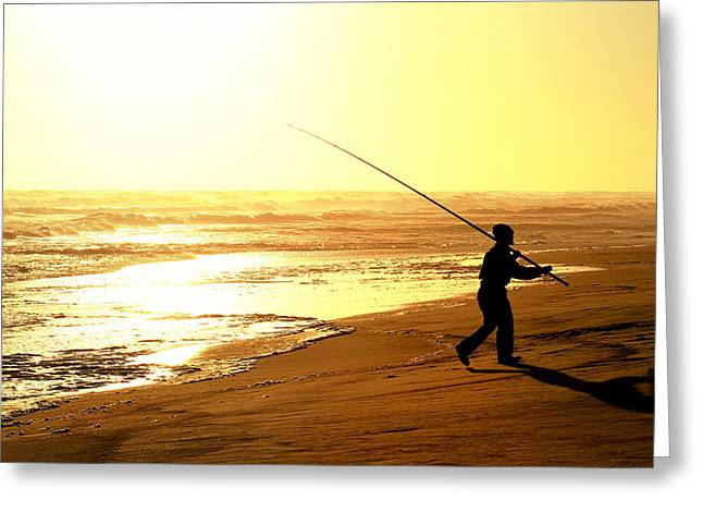 Recently Sold -  - Tackle Glass Greeting Cards - Catching the last rays... Greeting Card by A Rey