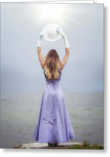 Sun Hat Greeting Cards - Catching The Sunlight Greeting Card by Joana Kruse