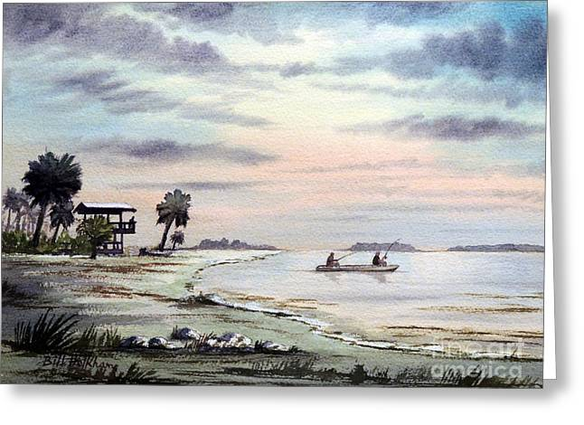 Speckled Trout Greeting Cards - Catching The Sunrise - Hagens Cove Greeting Card by Bill Holkham