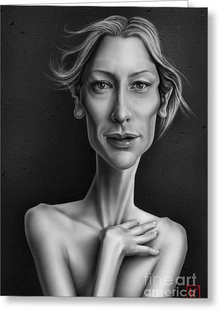 Cate Blanchett Greeting Card by Andre Koekemoer