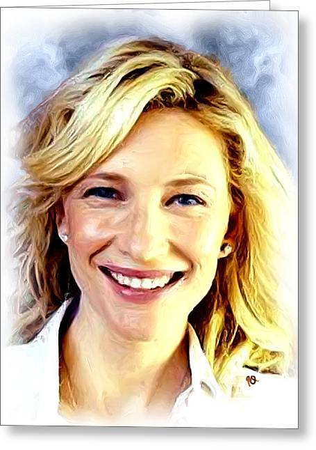 Cate Blanchett Greeting Cards - Cate Blanchett Greeting Card by Paul Quarry