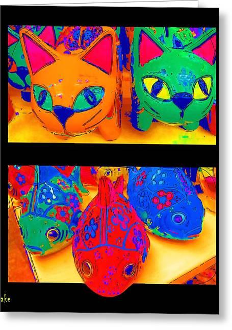 Buyart Greeting Cards - Catfish Greeting Card by Alec Drake