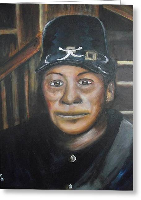 Slavery Paintings Greeting Cards - Cathay Williams Greeting Card by Anthony Hurt