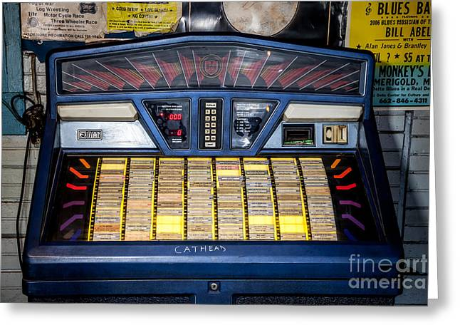 Juke Joint Greeting Cards - Cathead Juke Box - Blue Front Cafe Greeting Card by T Lowry Wilson