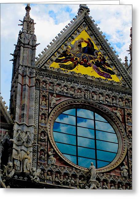 Sienna Italy Greeting Cards - Cathederal Greeting Card by Margaret Glenn