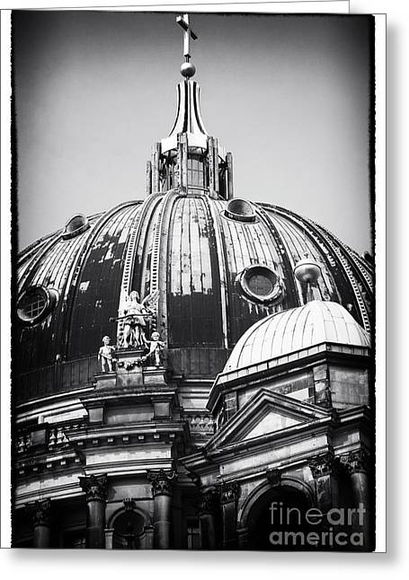 Berlin Cathedral Greeting Cards - Cathedral Angels Greeting Card by John Rizzuto