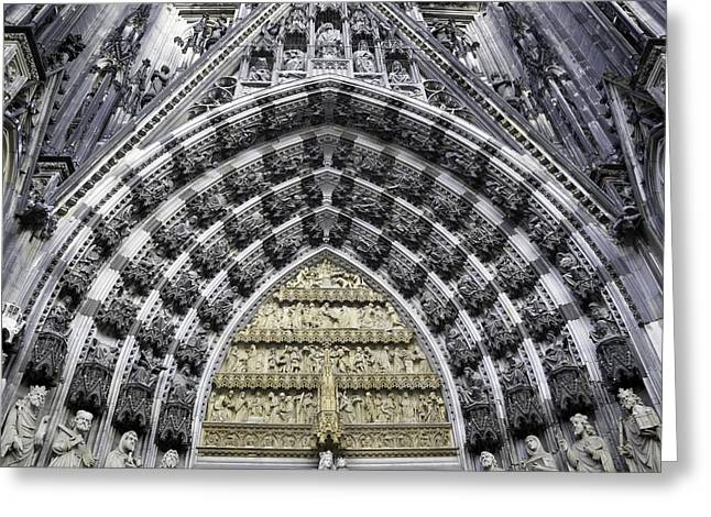 Medieval Entrance Greeting Cards - Cathedral Arch 2 Greeting Card by Teresa Mucha