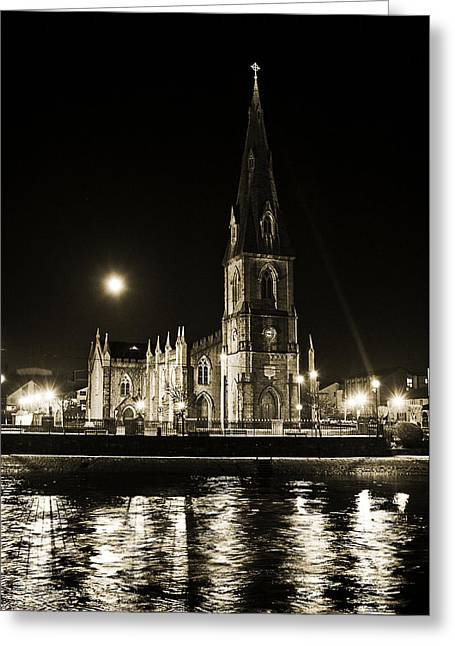 Bells Of Ireland Greeting Cards - Cathedral at nine fifteen Greeting Card by Tony Reddington