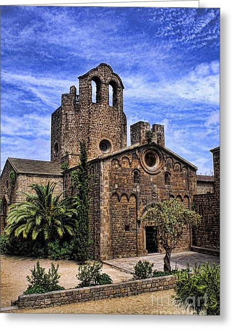 Pau Spanish Greeting Cards - Cathedral, Barcelona Spain Greeting Card by Bill Bachmann