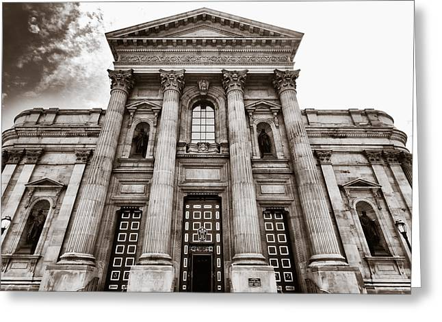 Downtown Franklin Greeting Cards - Cathedral Basilica of Saints Peter and Paul - Philadelphia Greeting Card by Photography  By Sai