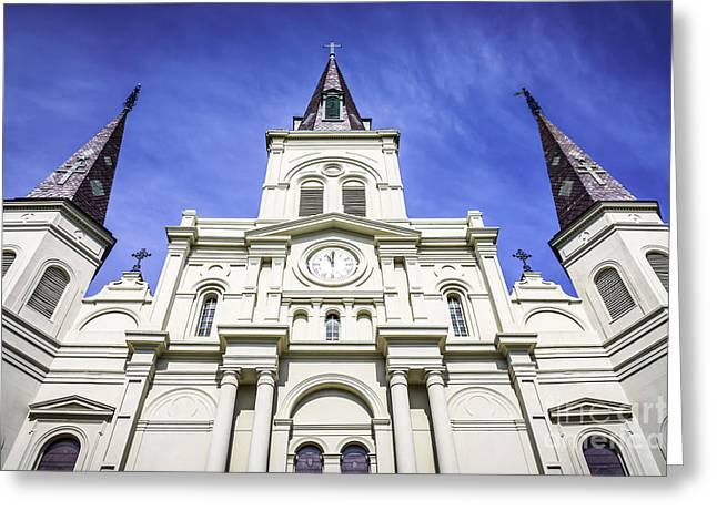 French Quarter Photographs Greeting Cards - Cathedral-Basilica of St. Louis King of France Greeting Card by Paul Velgos