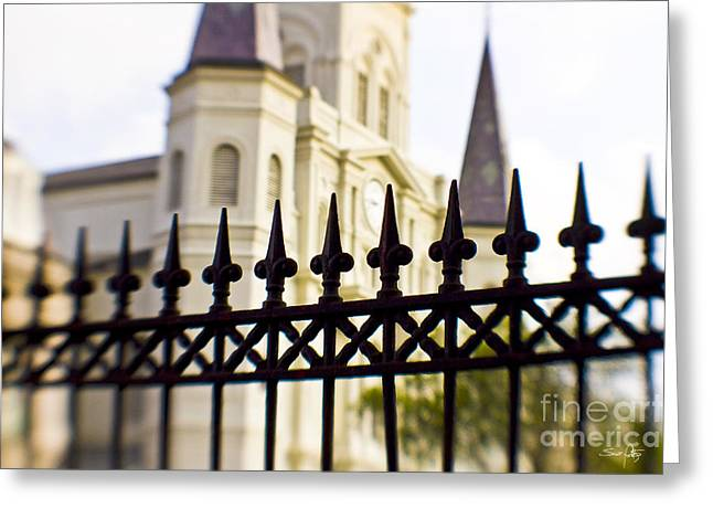 St Louis Cathedral Greeting Cards - Cathedral Basilica Greeting Card by Scott Pellegrin