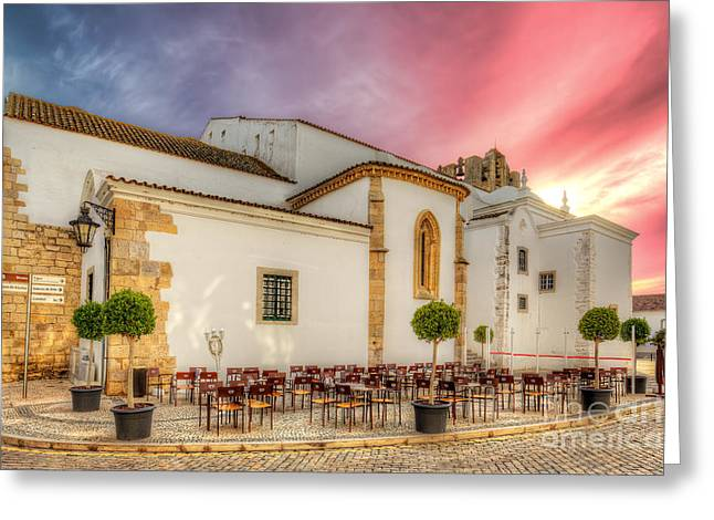 Cathedral Cafe Greeting Card by English Landscapes