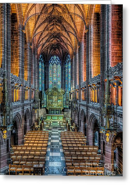 Religious Digital Art Greeting Cards - Cathedral Chapel Greeting Card by Adrian Evans