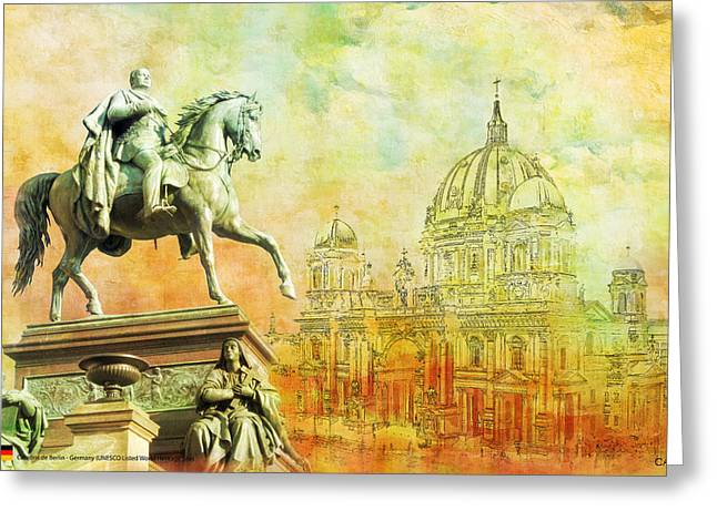 Domes Greeting Cards - Cathedral de Berlin Greeting Card by Catf