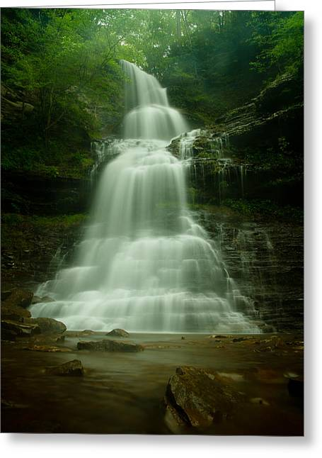 Cathedral Rock Greeting Cards - Cathedral Falls Greeting Card by Shane Holsclaw