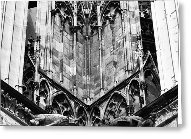 Church; Symbolism; Cathedral; Gargoyle Greeting Cards - Cathedral Gargoyle 02 Greeting Card by Teresa Mucha
