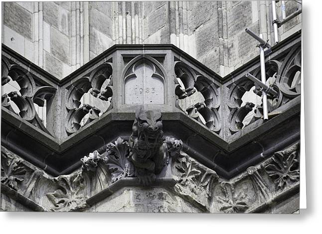 Drain Greeting Cards - Cathedral Gargoyle 03 Greeting Card by Teresa Mucha