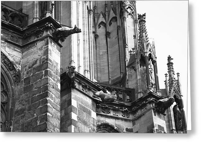 Church; Symbolism; Cathedral; Gargoyle Greeting Cards - Cathedral Gargoyle 04 Greeting Card by Teresa Mucha