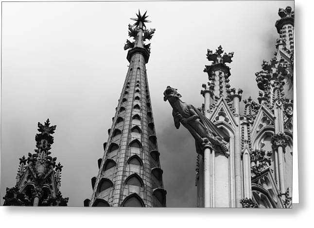 Drain Greeting Cards - Cathedral Gargoyle 06 Greeting Card by Teresa Mucha
