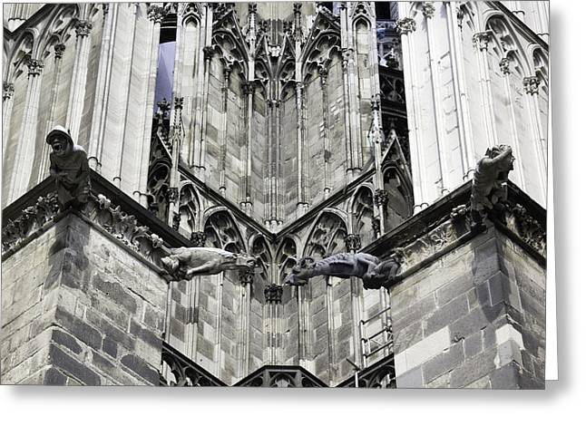 Drain Greeting Cards - Cathedral Gargoyle 07 Greeting Card by Teresa Mucha