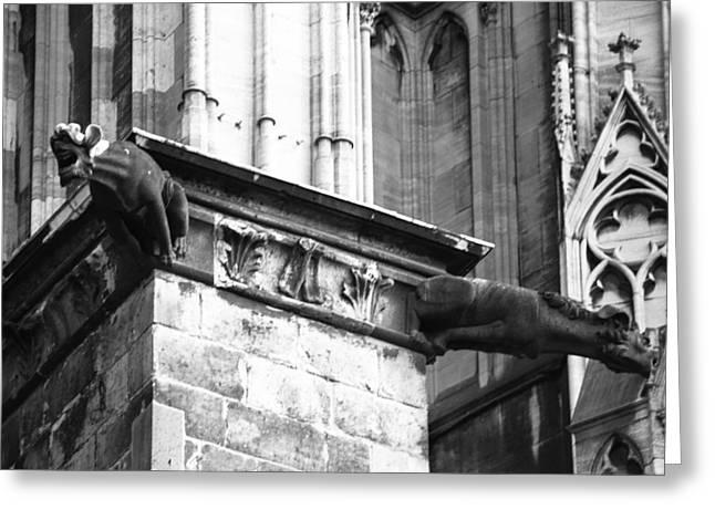 Church; Symbolism; Cathedral; Gargoyle Greeting Cards - Cathedral Gargoyle 09 Greeting Card by Teresa Mucha