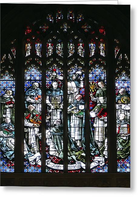 Cathedral Window Greeting Cards - Cathedral Glass - San Francisco Greeting Card by Daniel Hagerman