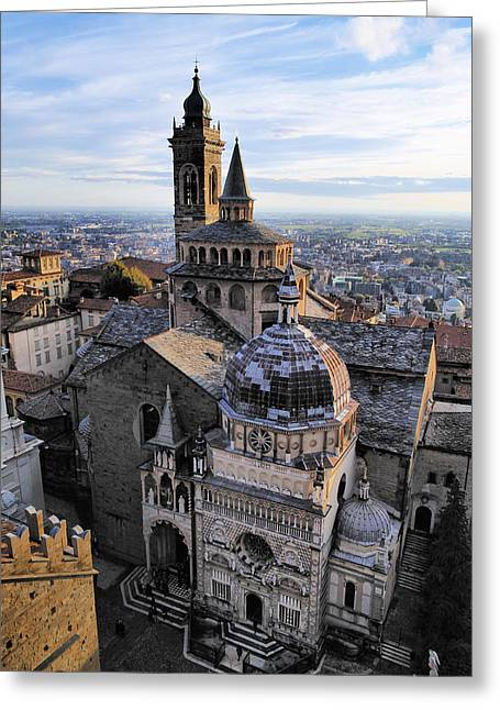 Citta Alta Greeting Cards - Cathedral in Bergamo Greeting Card by Karol Kozlowski