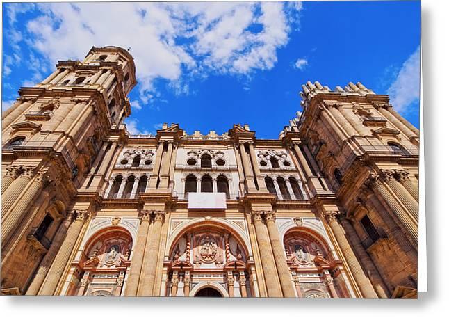 Incarnation Photographs Greeting Cards - Cathedral in Malaga Greeting Card by Karol Kozlowski