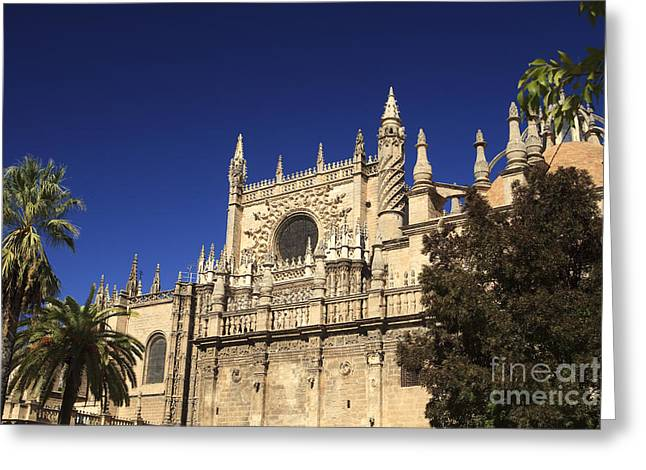 Renaissance Sculpture Greeting Cards - Cathedral in Sevile Greeting Card by Patricia Hofmeester