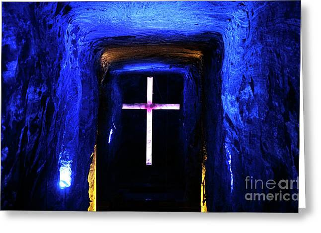 Cathedral In The Salt Mine Greeting Card by John Rizzuto