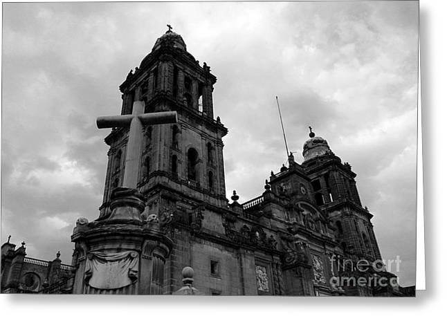 City Ceramics Greeting Cards - Cathedral Greeting Card by Juan Miranda