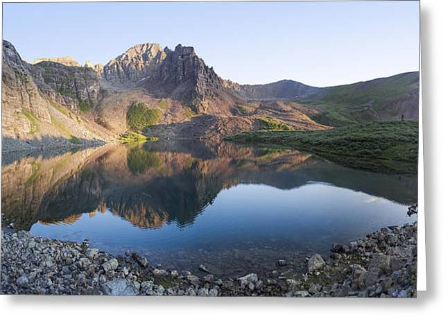 13er Greeting Cards - Cathedral Lake Reflection Greeting Card by Aaron Spong
