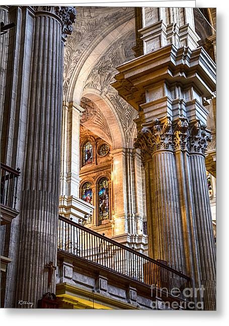 Wholly Greeting Cards - Cathedral Malaga Spain Greeting Card by Rene Triay Photography