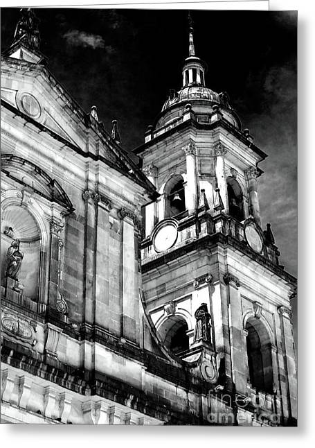 Cathedral Of Bogota Greeting Card by John Rizzuto