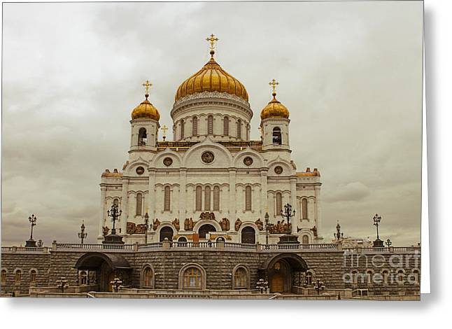 Moscow Greeting Cards - Cathedral of Christ the Saviour Greeting Card by Lars Ruecker