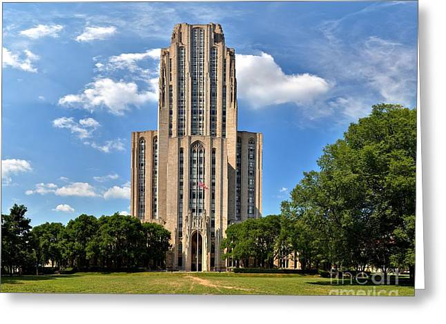 Cathedral Of Learning Greeting Cards - Cathedral Of Learning Pittsburgh PA Greeting Card by Adam Jewell