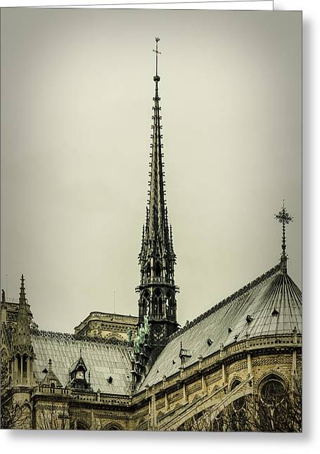 Medieval Temple Greeting Cards - Cathedral of Notre Dame de Paris II Greeting Card by Marco Oliveira